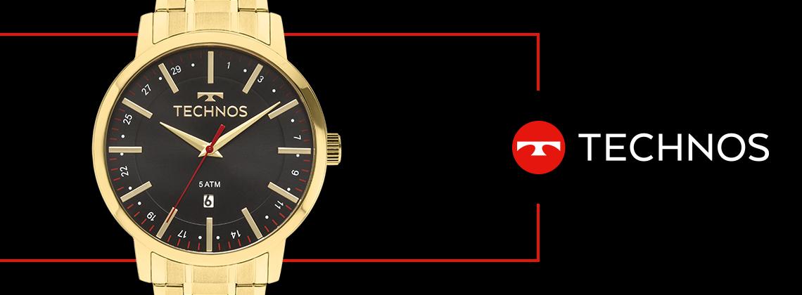 Relógio Technos Dourado Masculino Classic Steel 2115MMK/4P