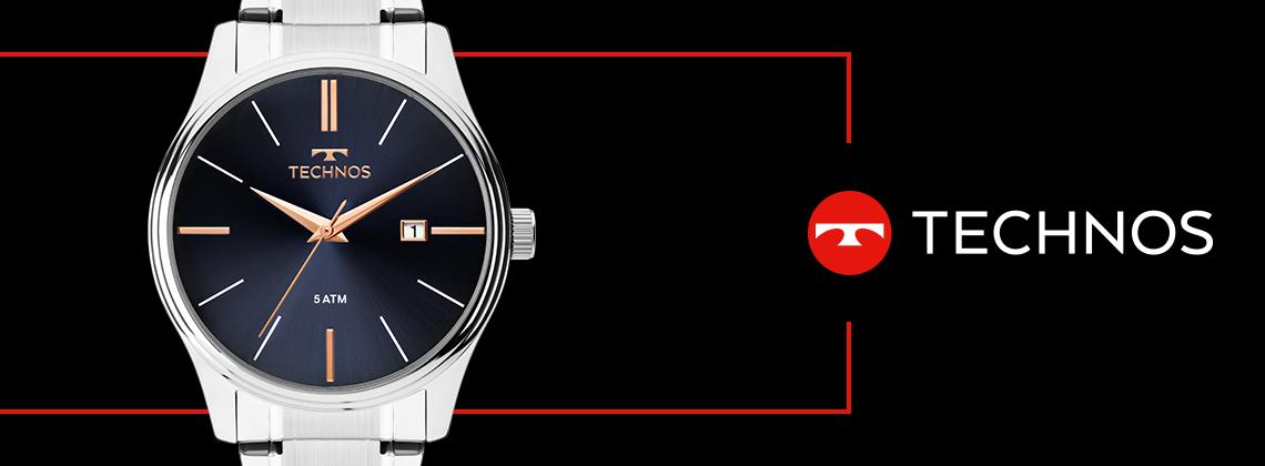 Relógio Technos Masculino Prateado Classic 2115MPM/1K