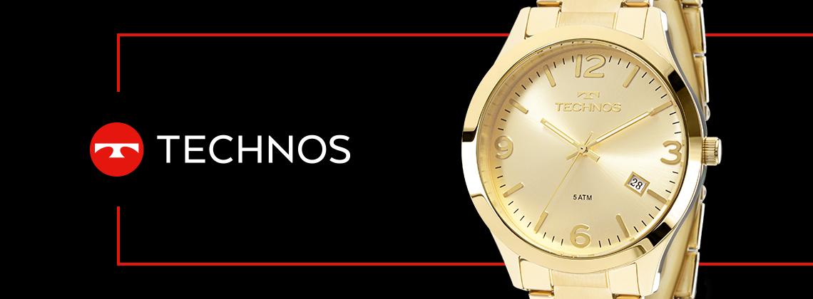 Relógio Technos Dourado Feminino Elegance Dress 2315ACD/4X