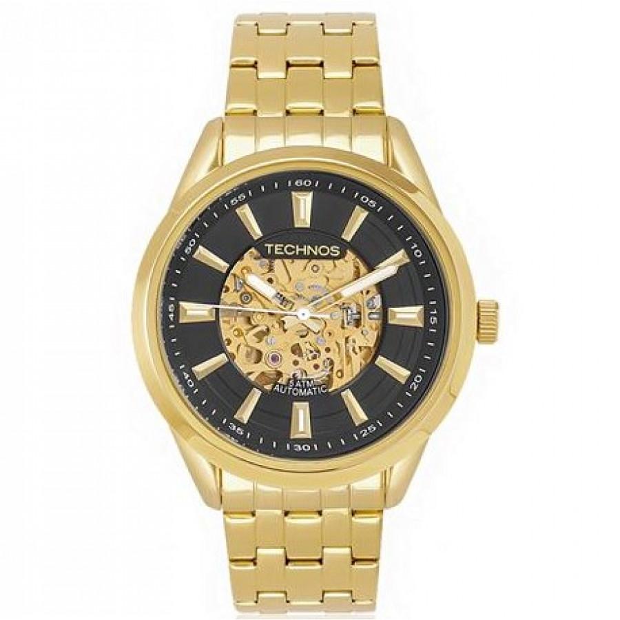 Relógio Technos Masculino Dourado Automático 8N24AF 4P - Technos - Marcas f24df52639