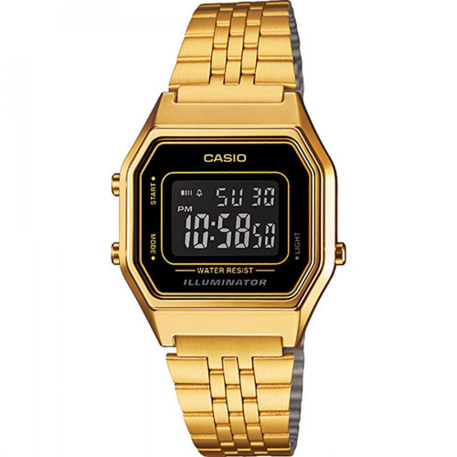e28efb5d8bc Relógio Casio Dourado Vintage Digital LA680WGA1BDF