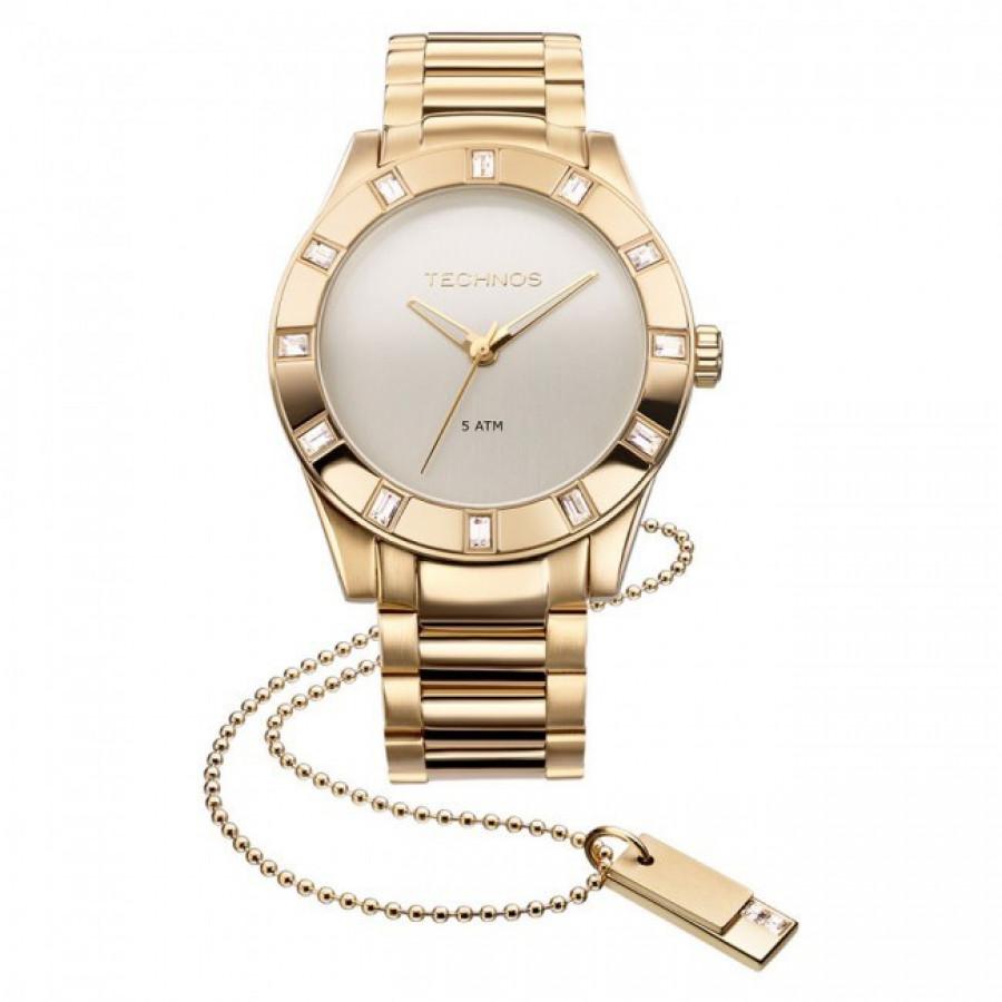 Relógio Technos Feminino Elegance Swarovski 2035FFH 4X 3a0a89886e