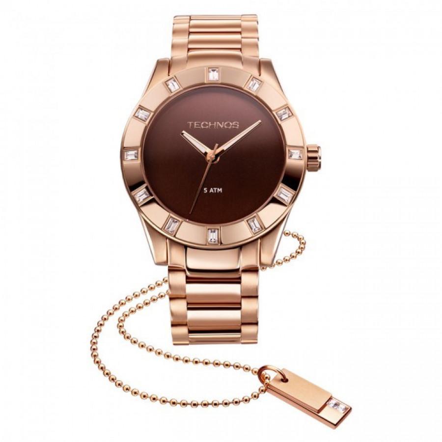 Relógio Technos Feminino Elegance Swarovski 2035FFI 4M afb13ed16b