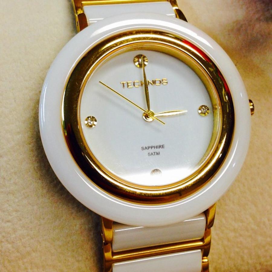 Relógio Technos Elegance Feminino Cerâmica 2036LND 4B 9d4328cc76
