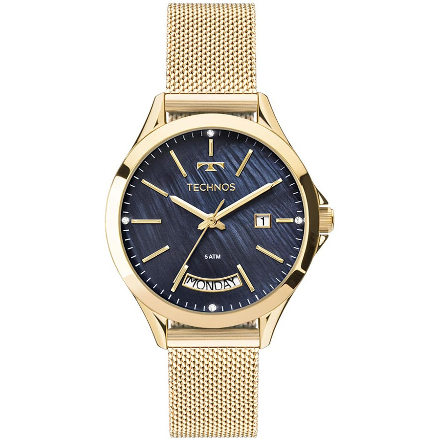 Relógio Technos Feminino Dourado Fashion 2350AF 4A 70cd19fe92