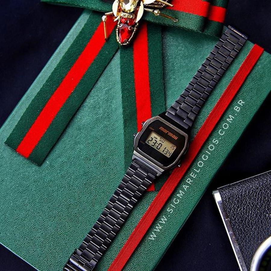 d53c467882805 Relógio Mormaii Vintage Digital Preto MOJH02AJ 4P