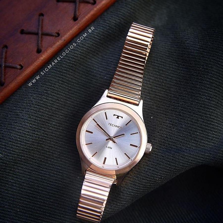 f97fd09c585a3 Relógio Technos Feminino Rosé Elegance Boutique 2035MMG 4K