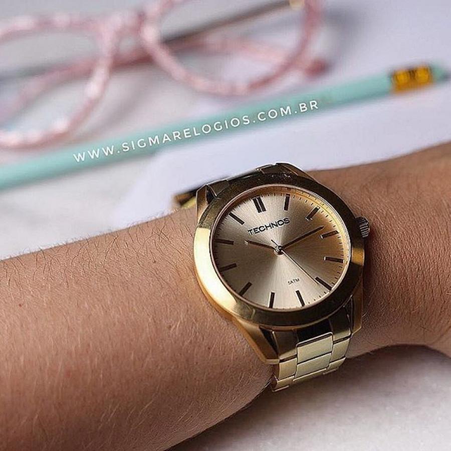 6e3c7ff2ce9a8 Relógio Technos Dourado Analógico Steel 2035LRP 4X