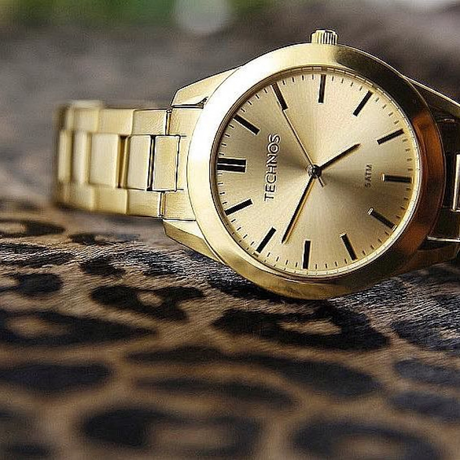 5036580df3c Relógio Technos Dourado Masculino Classic Steel 2115MNP 1D