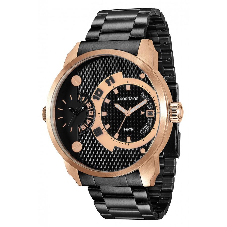 5fff2aac998 Relógio Mondaine Masculino Rosé e Preto 78527GPMVIA5