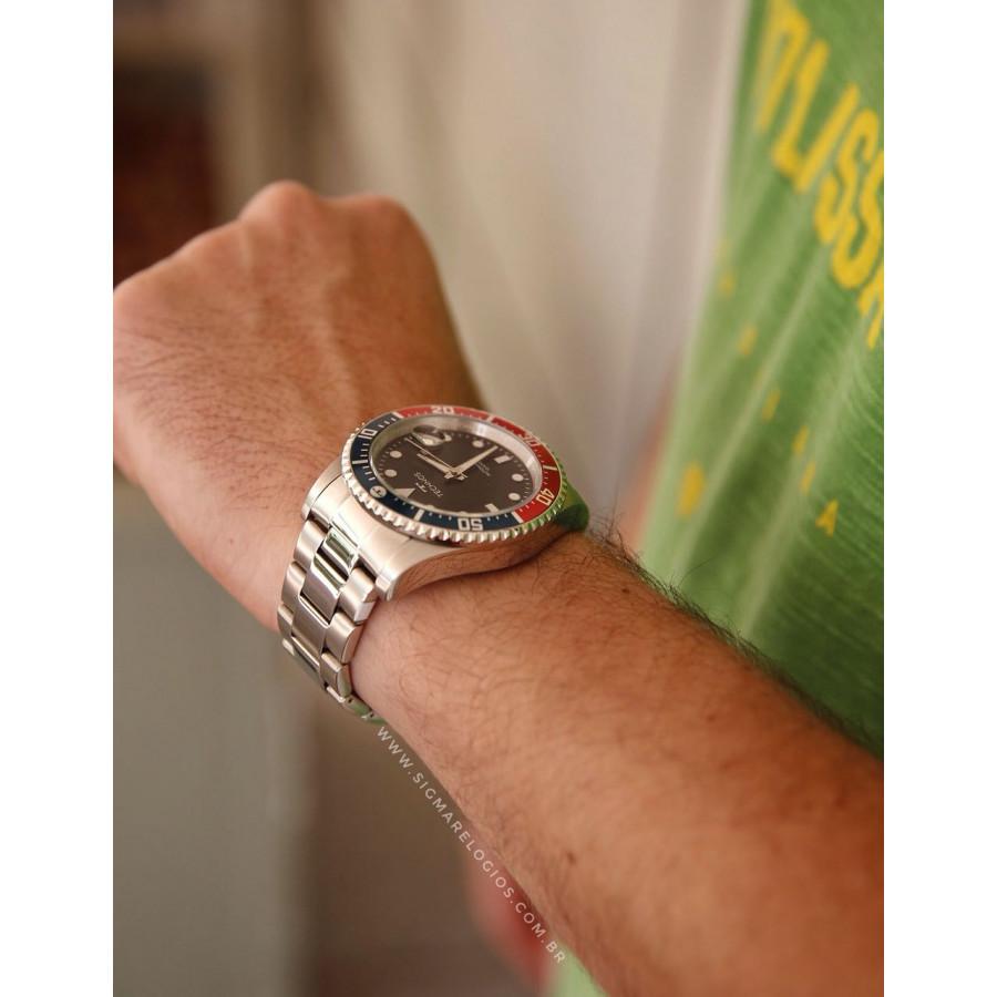 24e7125d6e52e Relógio Technos Prateado Masculino Automático 8205NZ 1P