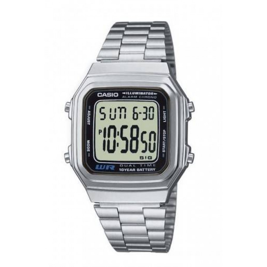 7d5e769b290d0 Relógio Casio Vintage Prateado A178WA1ADFU