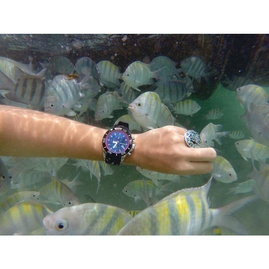 Relógio Technos Masculino Prateado Acqua OS10EP 8P com Pulseira de Silicone a10197d2c5
