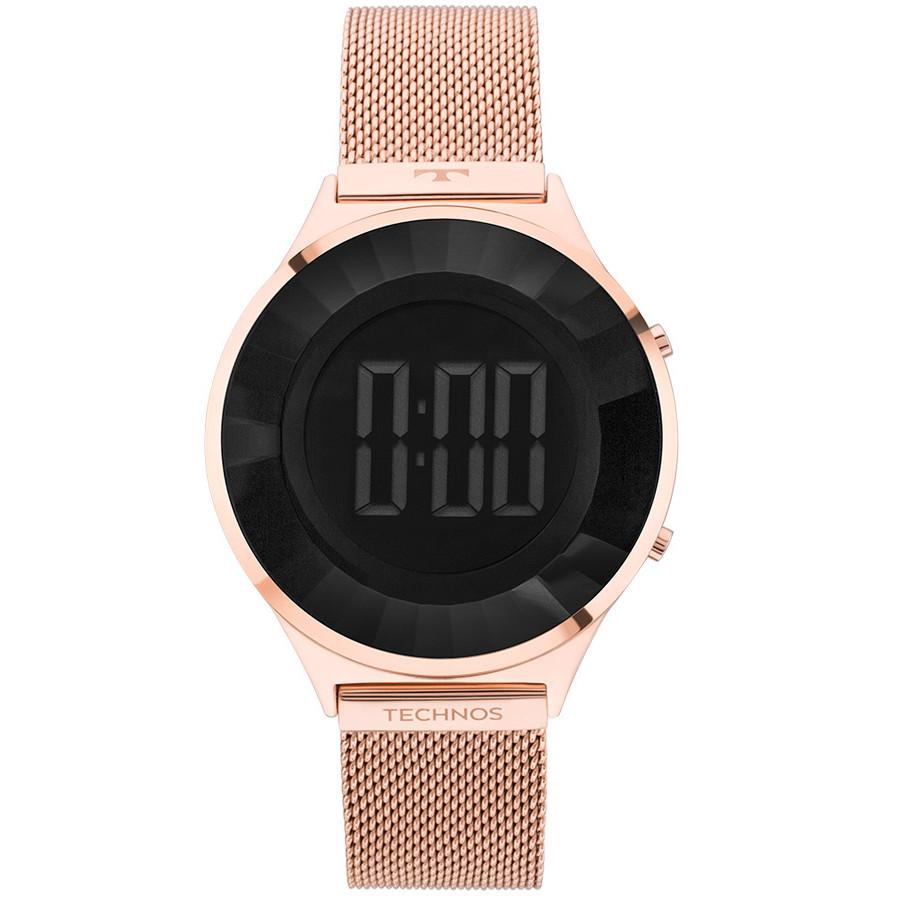 Relógio Technos Digital Elegance Crystal Rosé BJ3572AD 4P f98acb9a6e