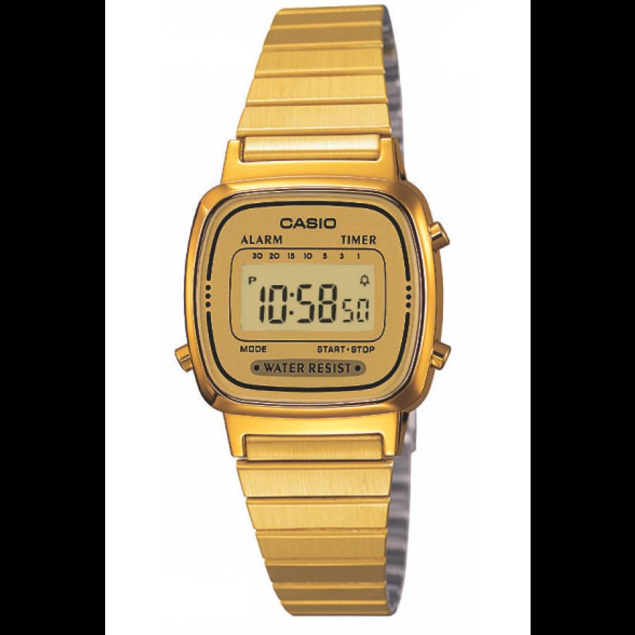 a3552cfc0b2 Relógio Casio Dourado Vintage Digital LA670WGA9DFU