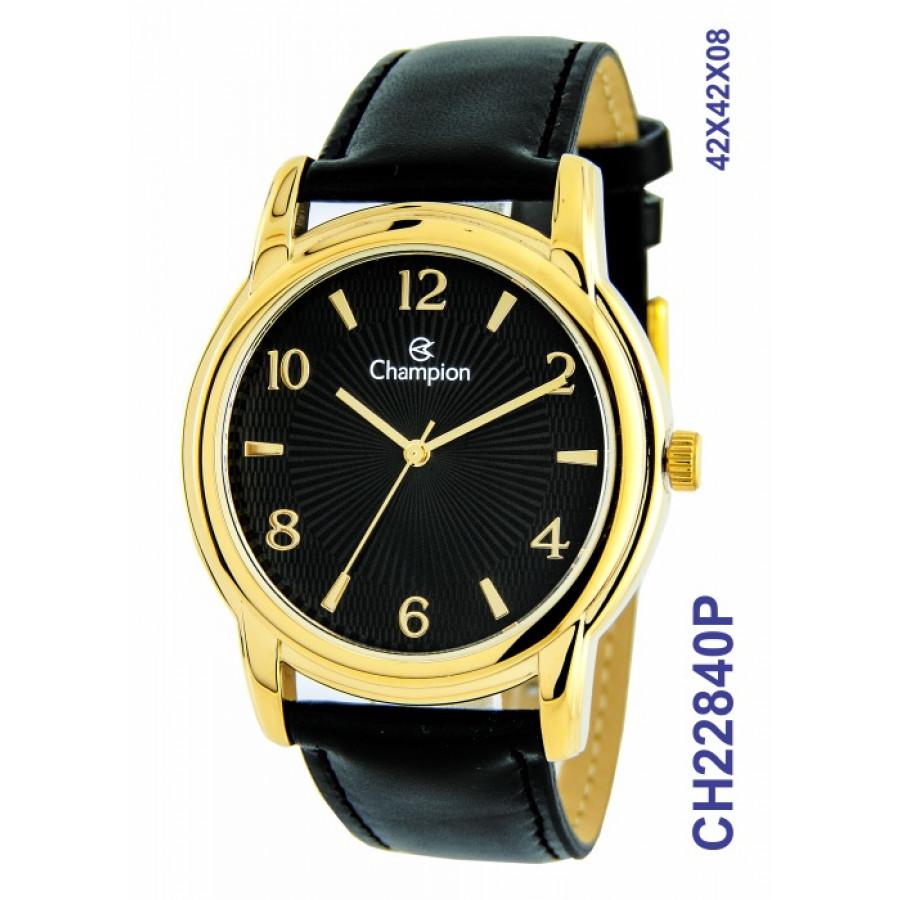 e6a693885d4 Relógio Champion Masculino Dourado e Preto CH22840P