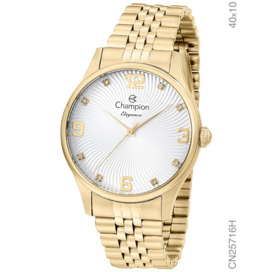 Relógio Champion Feminino Elegance Dourado CN25716H 7035751f80