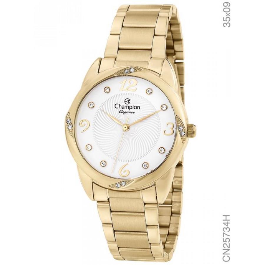 66c55fb854b Relógio Champion Elegance Dourado CN25734H