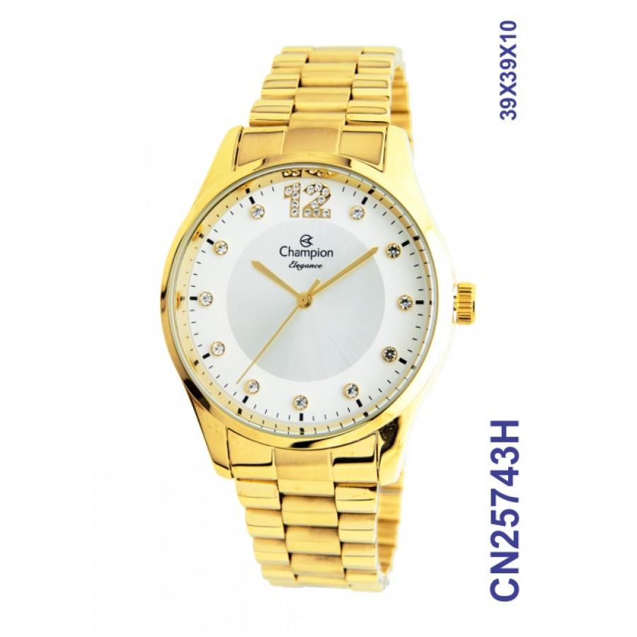 Relógio Champion Feminino Elegance Dourado CN25743H e220070504