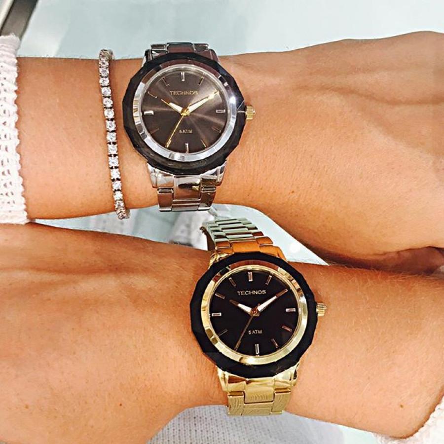 Relógio Technos Elegance Feminino Crystal 2035MCM 4P 66c1636cee