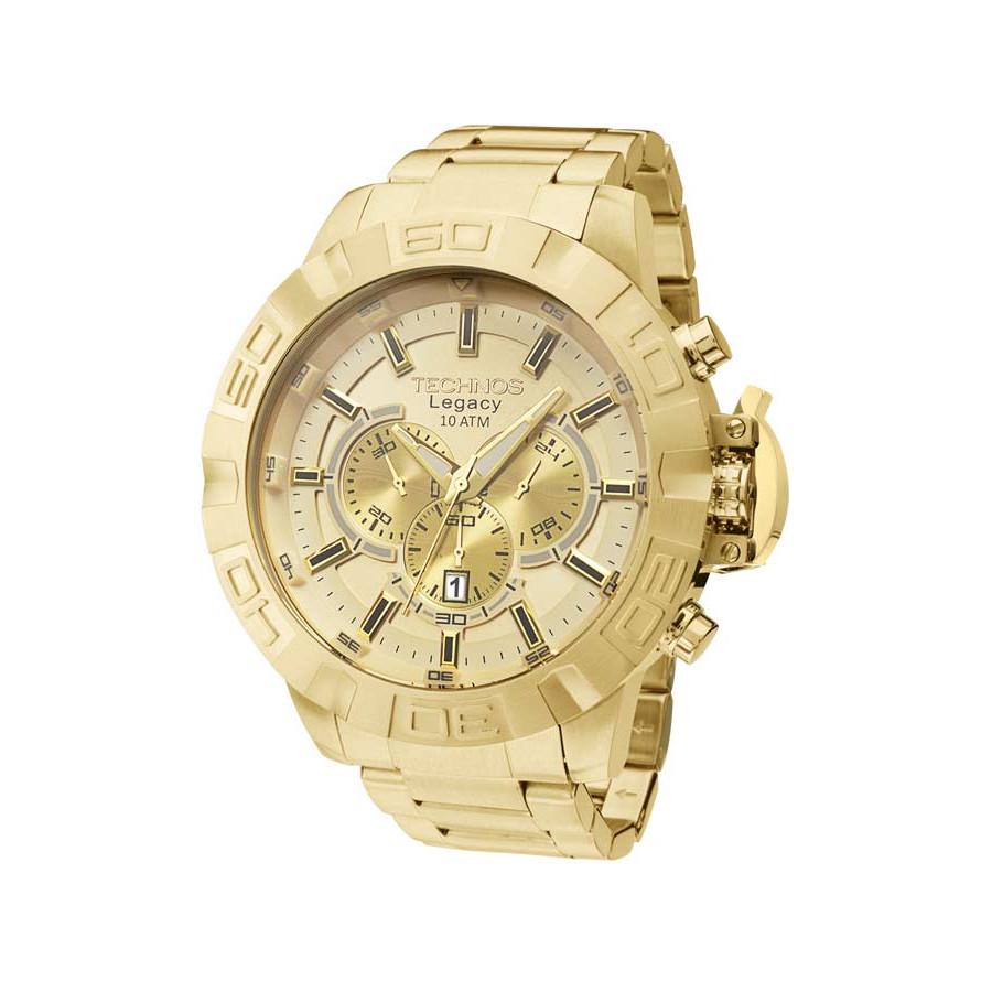 45621394d1a Relógio Technos Masculino Dourado Legacy JS25BA 4X