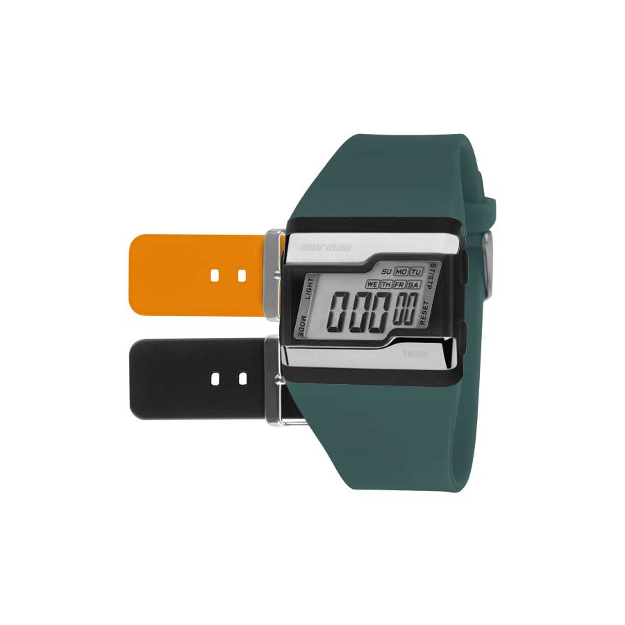 Kit Relógio Mormaii Digital + Duas Pulseiras FZU 8L 7f701f8877
