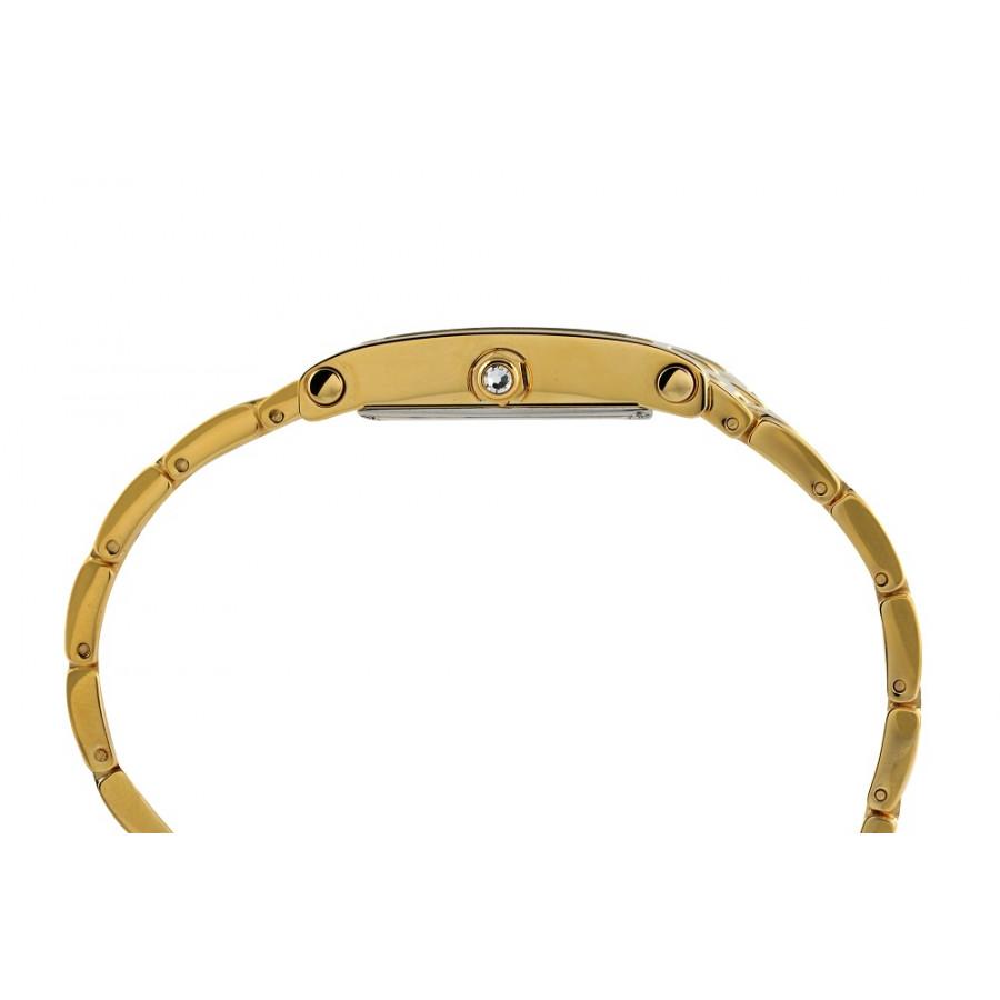 2839708af98 Relógio De Couro Branco Com Marcador Dourado Novidades