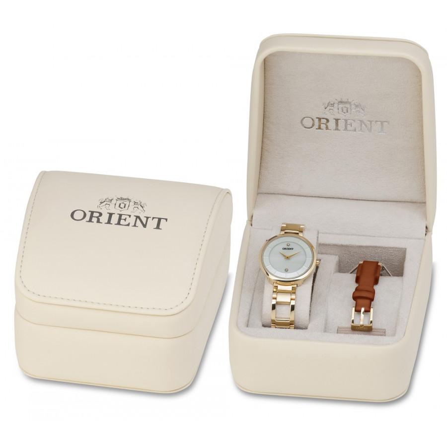 ed3ee85d7f7c7 Kit Relógio Orient Feminino Dourado FGSS0049B1MX + Pulseira de Couro