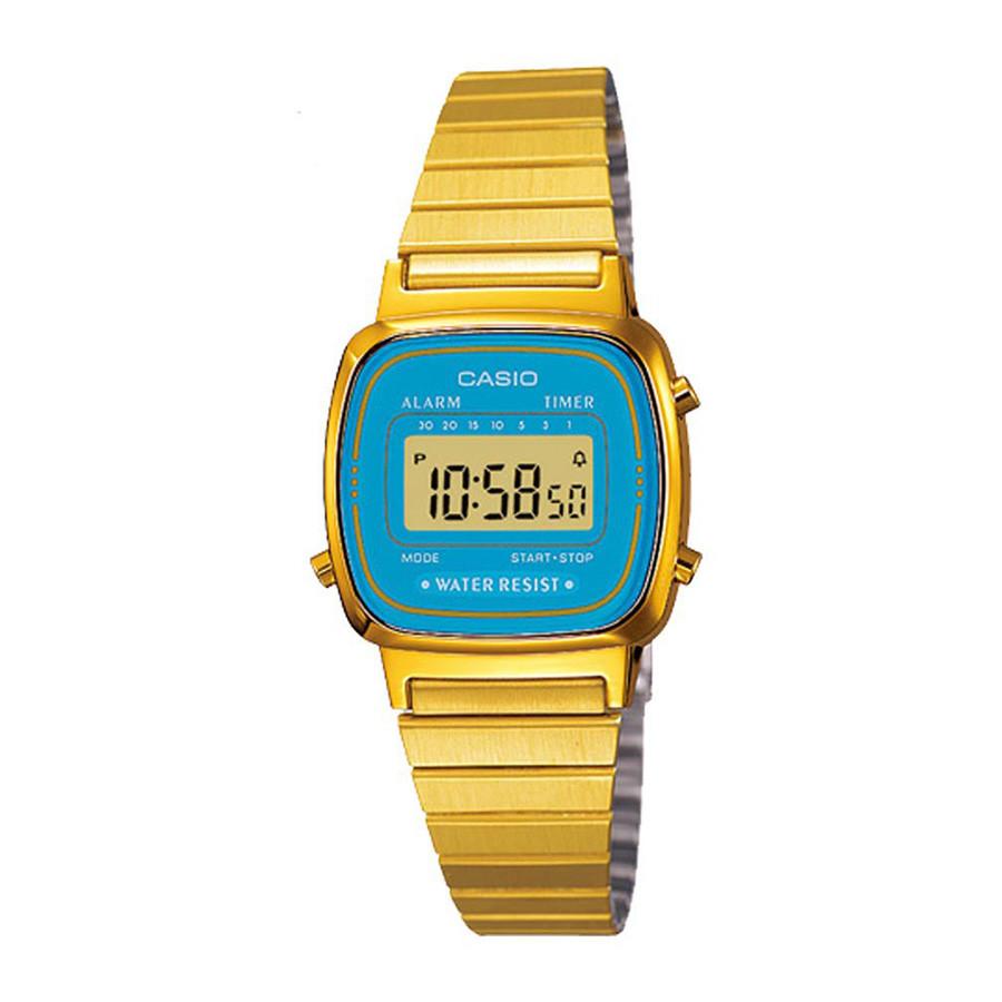 52c14670315 Relógio Casio Vintage Dourado LA670WGA2DFU