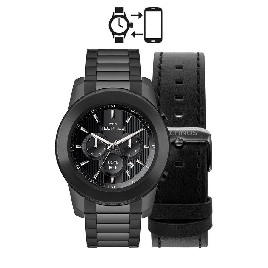 9cf94518f8656 Kit Relógio Technos Connect Smartwatch M1AB 4P
