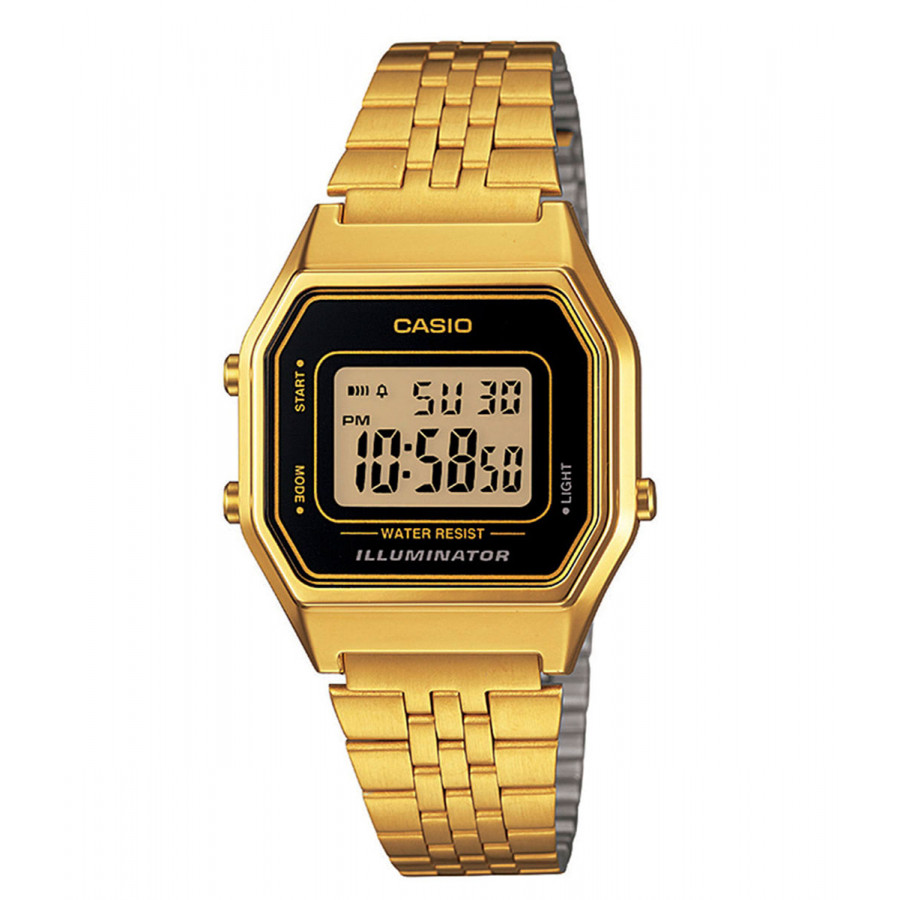 e608a090de8 Relógio Casio Vintage Digital Dourado LA680WGA1DF