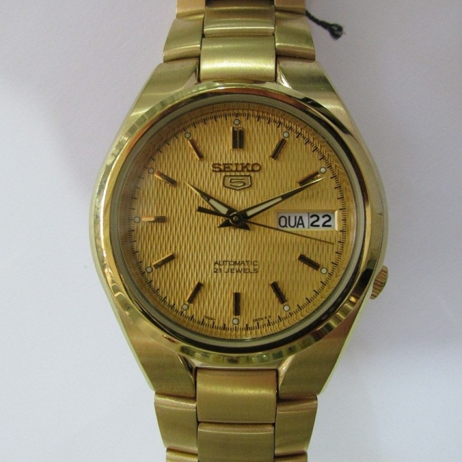 867f81bee71 Relógio Seiko Dourado Feminino Automático SNK610B1C1KX