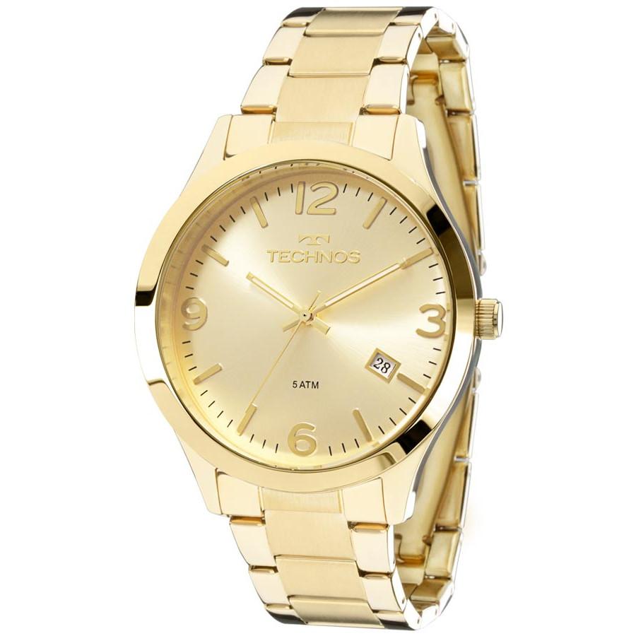 Relógio Technos Dourado Feminino Elegance Dress 2315ACD 4X - Marcas 06e71e13ba