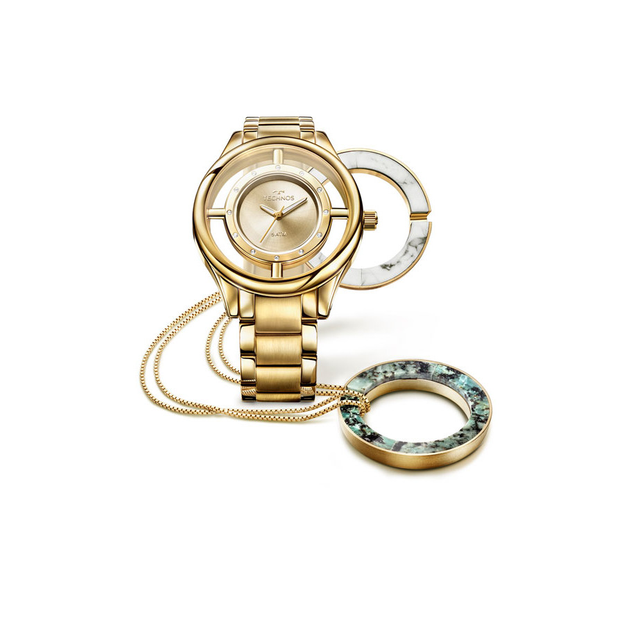 a6ece674389ff Relógio Technos Dourado Feminino Elegance GL30FK K4X