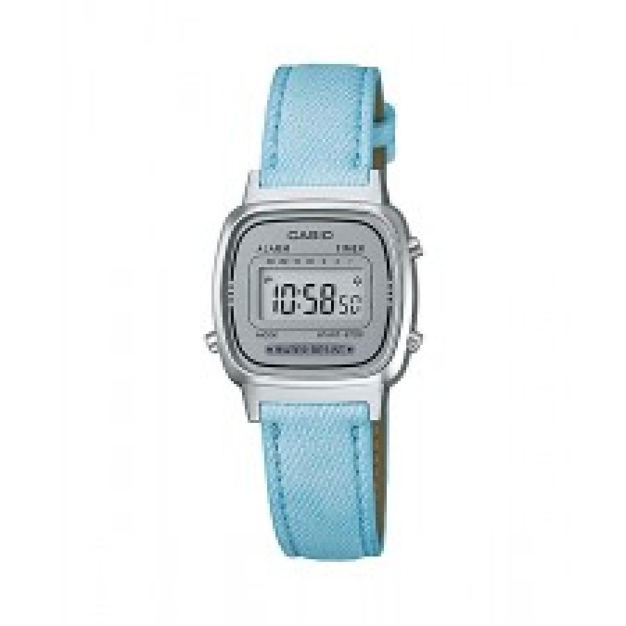 20467527e17 Relógio Casio Feminino Prateado Vintage Digital LA670WL2ADF Com Pulseira de  Couro