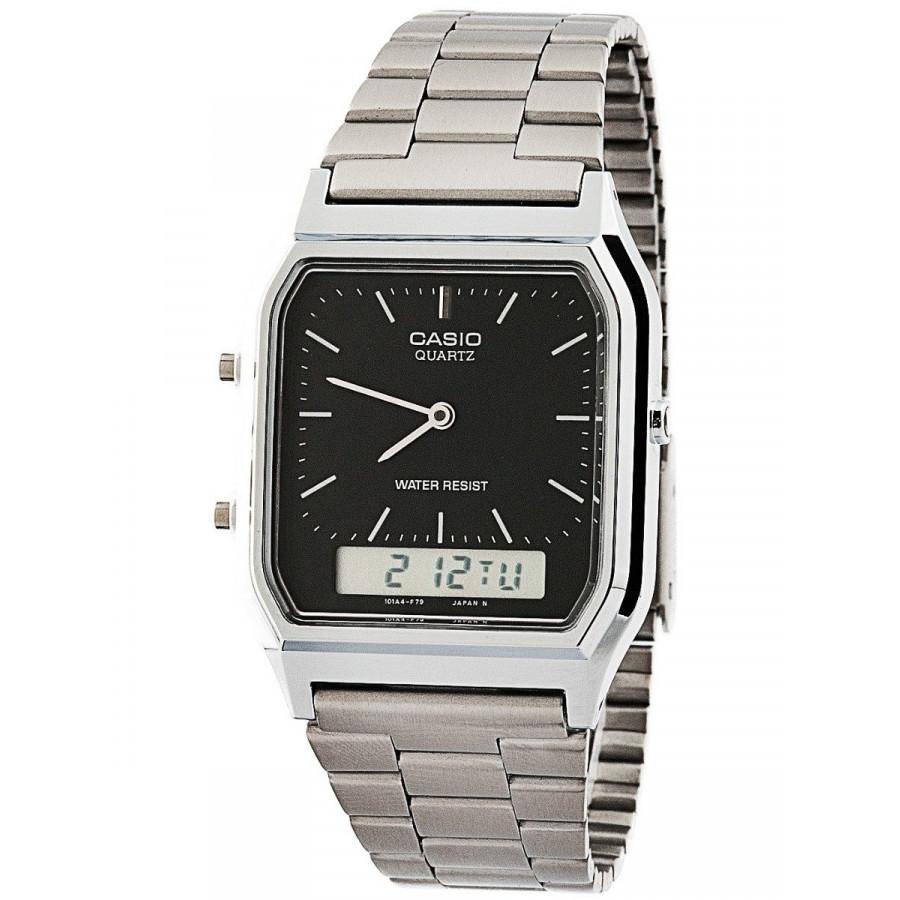 82b6a3214fc Relógio Casio Prateado Vintage Analógico digital AQ230A1DMQ