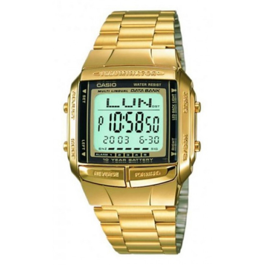 f5db3324ceb Relógio Casio Dourado Vintage Digital DB360G9ADFU