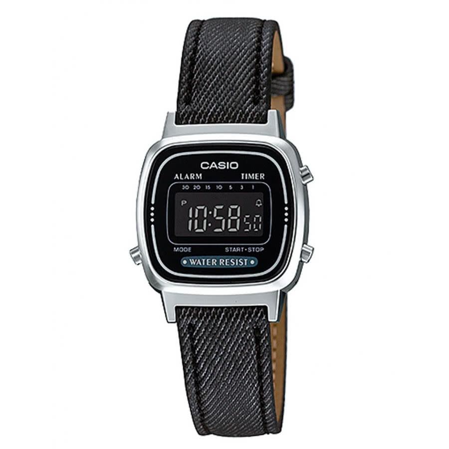 fdec16539 Relógio Casio Feminino Prateado Digital Vintage LA670WL1BDF