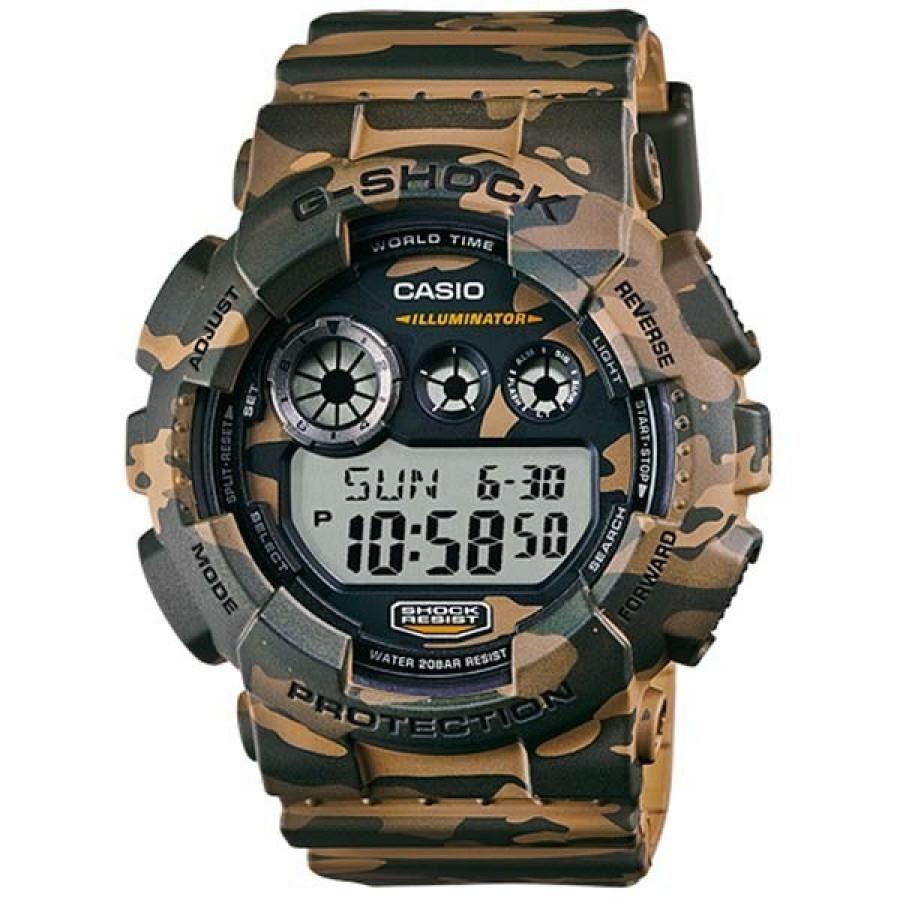 Relógio Casio Masculino Camuflado Verde G-Shock Digital GD120CM5DR 928e339e53