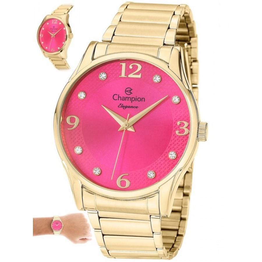 52620135570 Relógio Champion Dourado Feminino CN26215L