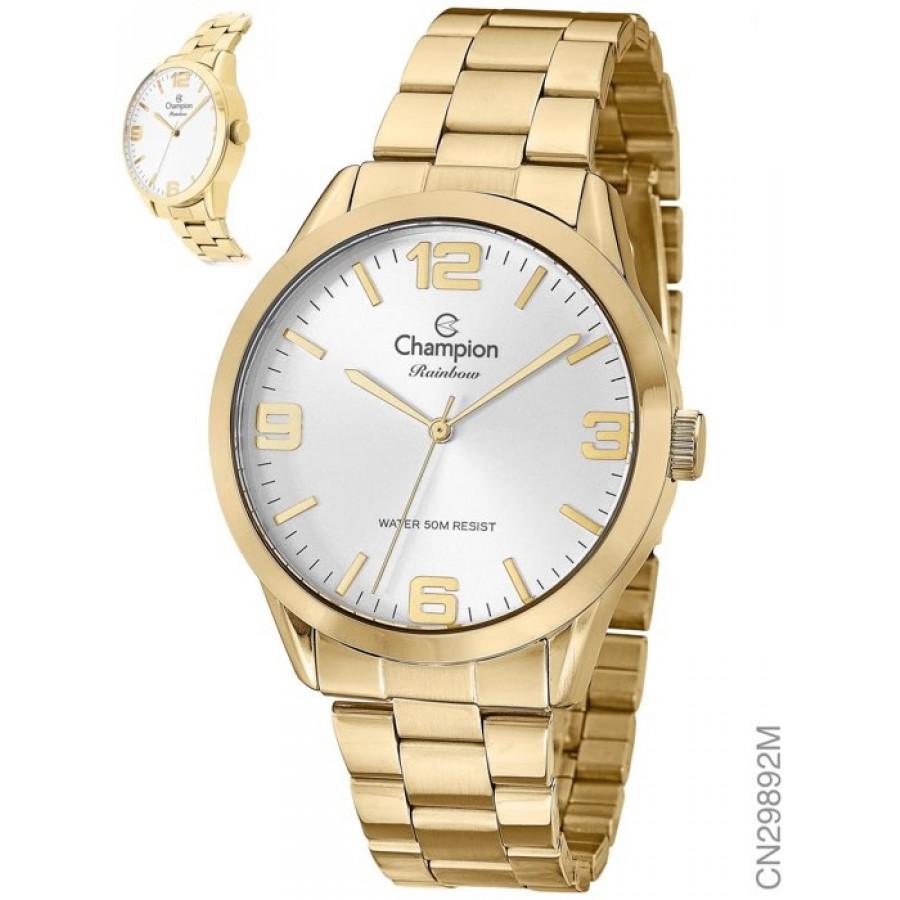 eb8e44ef7 Relógio Champion Dourado Feminino CN29892M