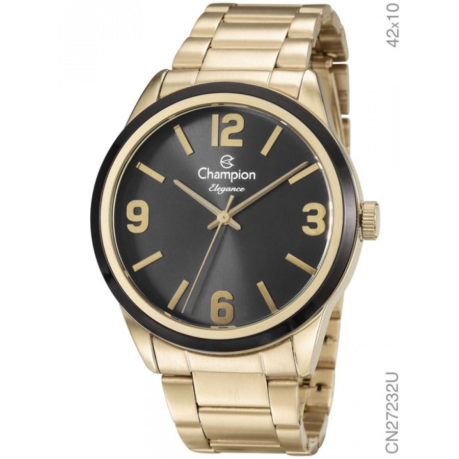 Relógio Champion Dourado Feminino Elegance Analógico CN27232U 644796b763