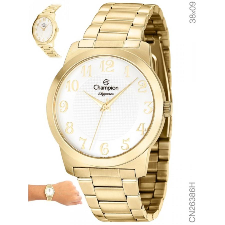 46d63db7126 Relógio Champion Feminino Dourado Elegance Analógico CN26386H
