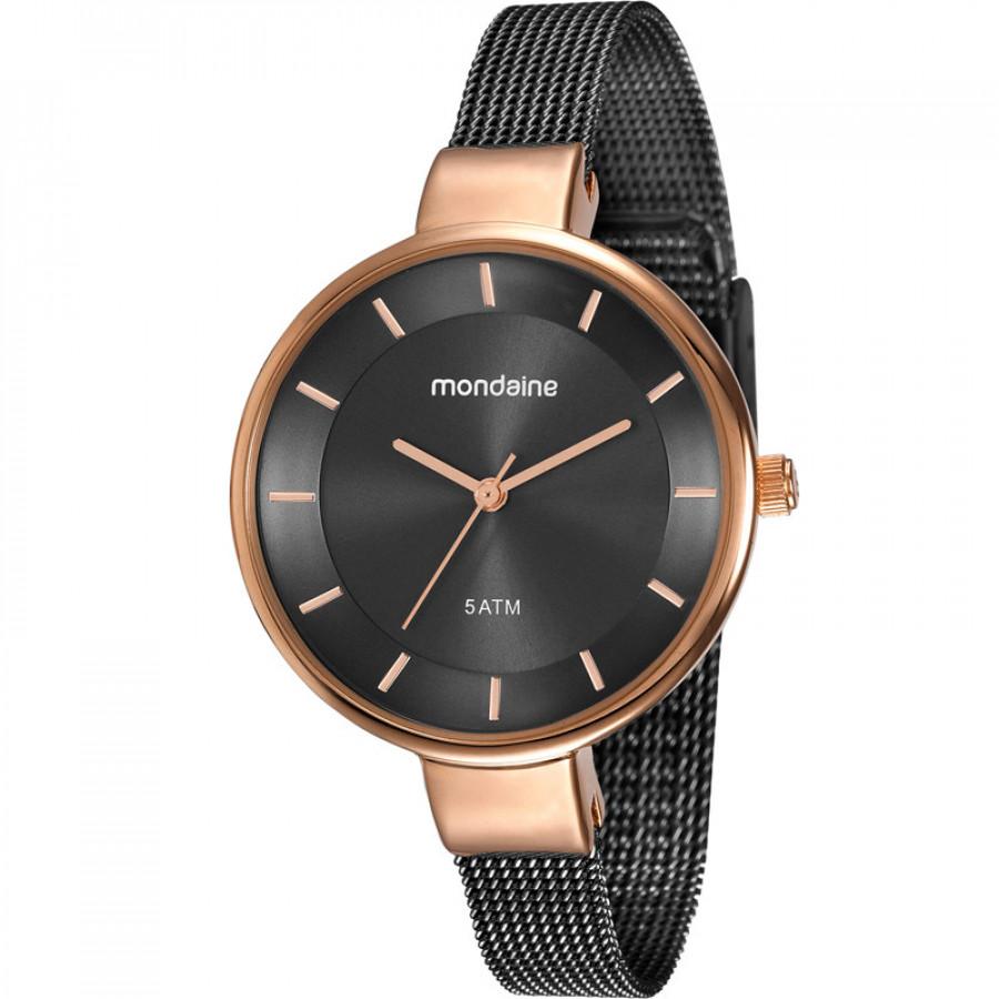 e67587b8b5d Relógio Mondaine Feminino Rosé e Preto 76597LPMVHE6