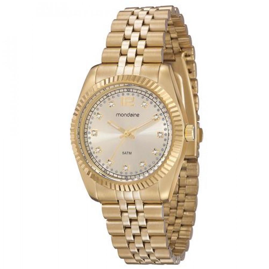 a9e5ea35b Relógio Mondaine Dourado Feminino 94256LPMTDS4