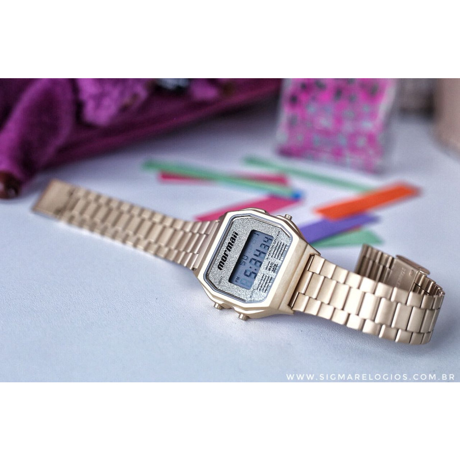 5f3b84b7d68f6 Relógio Mormaii Dourado Feminino MOJH02AD 4B