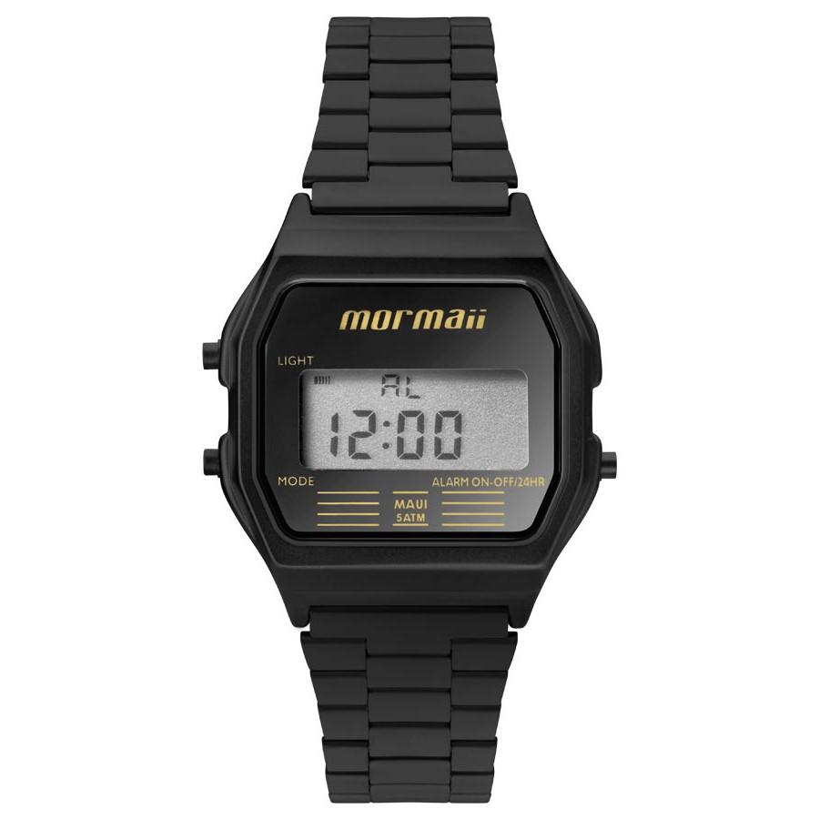 73cb2b85ed229 Relógio Mormaii Vintage Digital Preto MOJH02AJ 4P