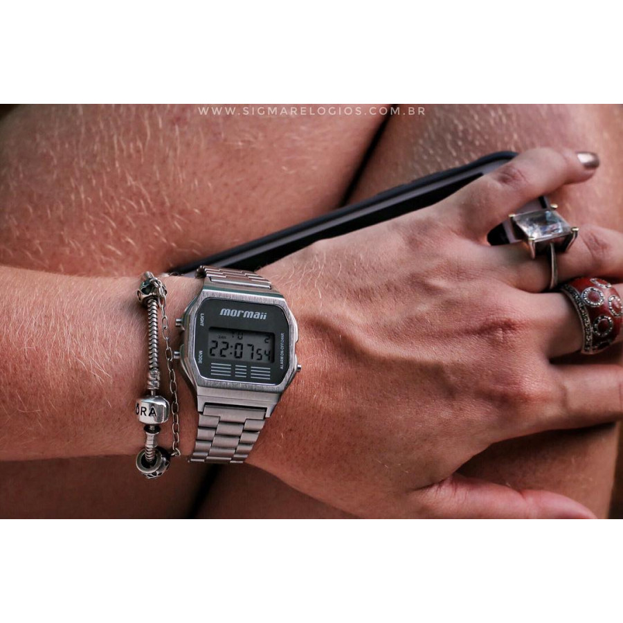 a6ba586379c28 Relógio Mormaii Feminino Vintage Prateado MOJH02AA 3C