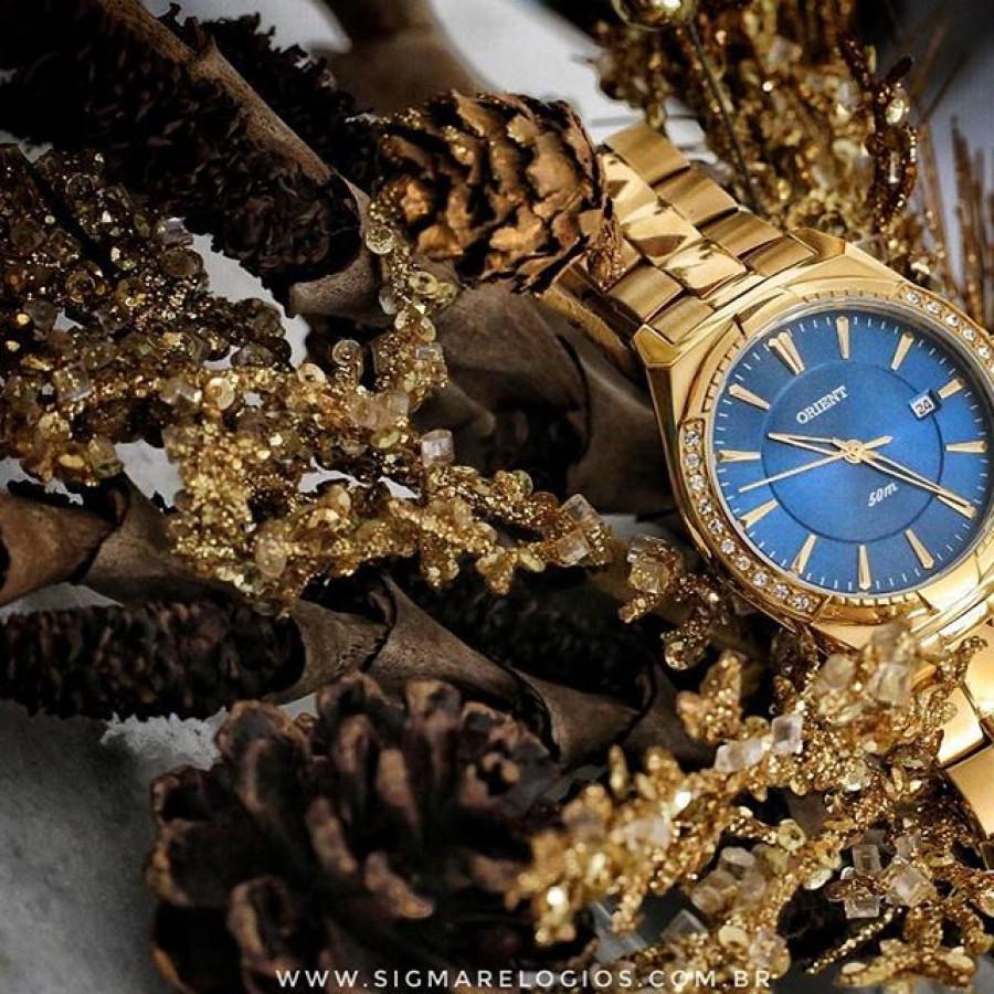 c928418c108d7 Relógio Orient Feminino Dourado Analógico FGSS1107D