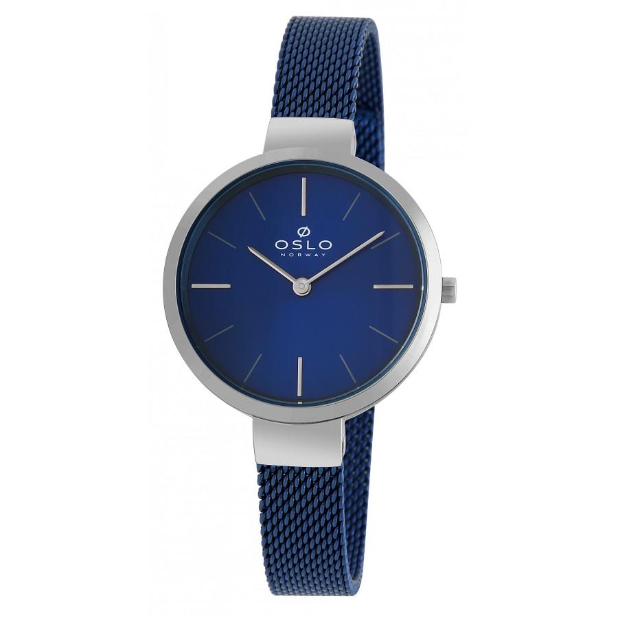 206ca71de65 Relógio Oslo Azul e Prateado Feminino OFTSSS9T0010D1DX
